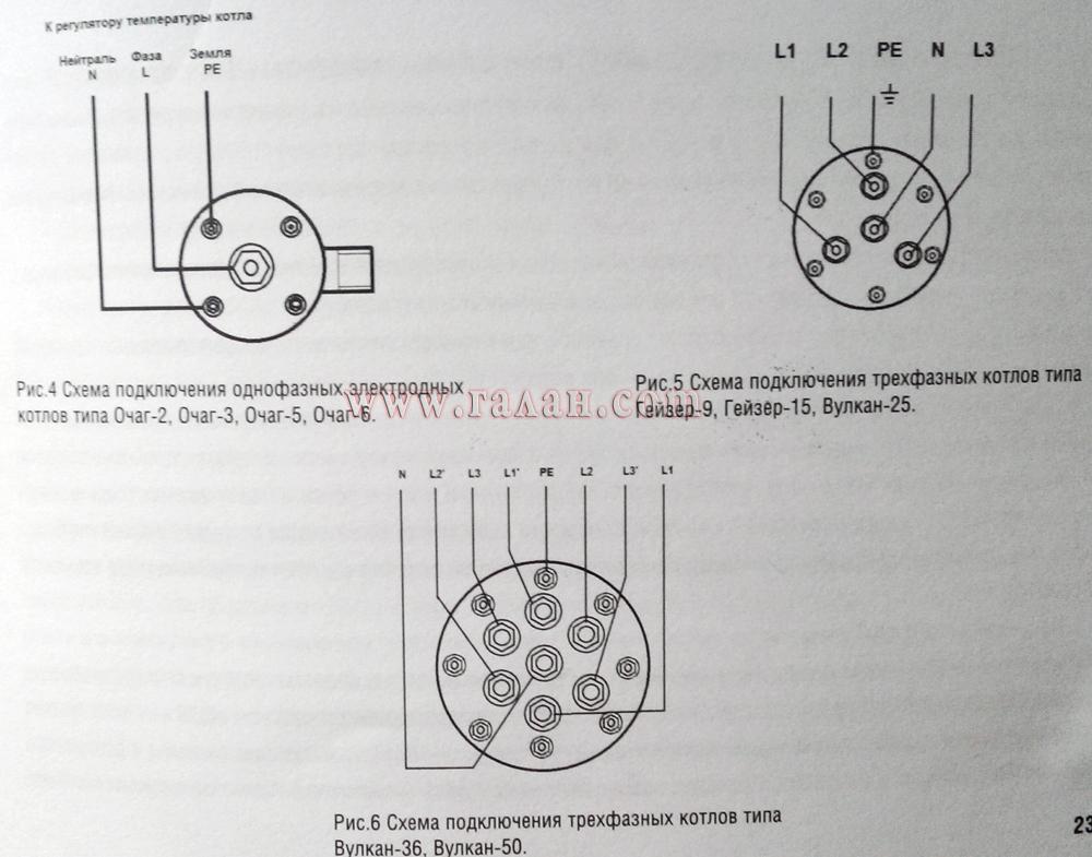 Схема подключения показан на