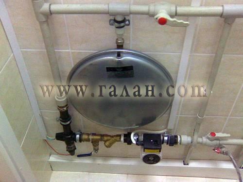 Система отопления включает